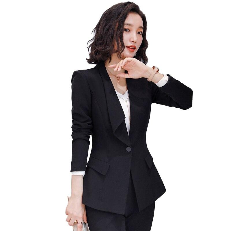 New 2020 Fashion Women Blazers and Jackets Black Ladies Female Elegant Formal Office Work Wear OL Styles Woman's Coat Clothes