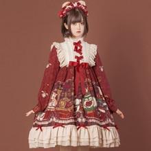 Lolita-Dress Palace Sweet Princess Kawaii-Girl Retro Op Falbala-Stand Bowknot High-Waist