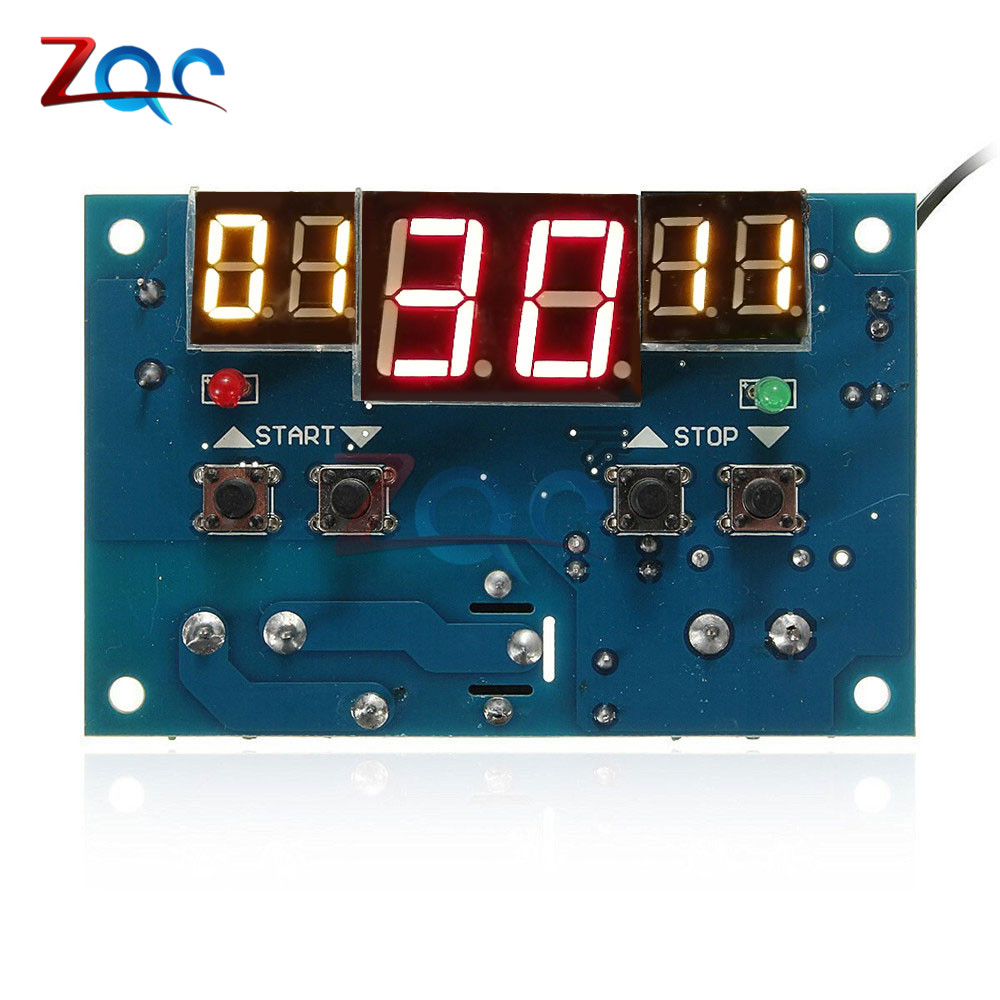 <font><b>W1401</b></font> <font><b>DC12V</b></font> LED Digital Display <font><b>Thermostat</b></font> Intelligent Temperature Controller Thermometer Control With NTC Sensor DC 12V Module image