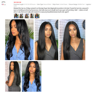 Image 5 - Straight Hair Bundles Human Hair Bundles Brazilian Hair Weave Bundles Human Hair Weave Extensions 8 To 30 Inch Non Remy Bundles