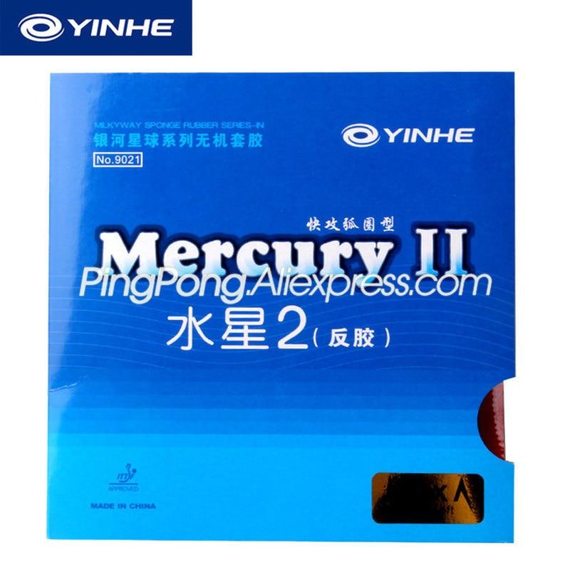 2 Pcs YINHE Mercury II / MERCURY 2 Table Tennis Rubber Galaxy Pips-In Original YINHE Ping Pong Rubber