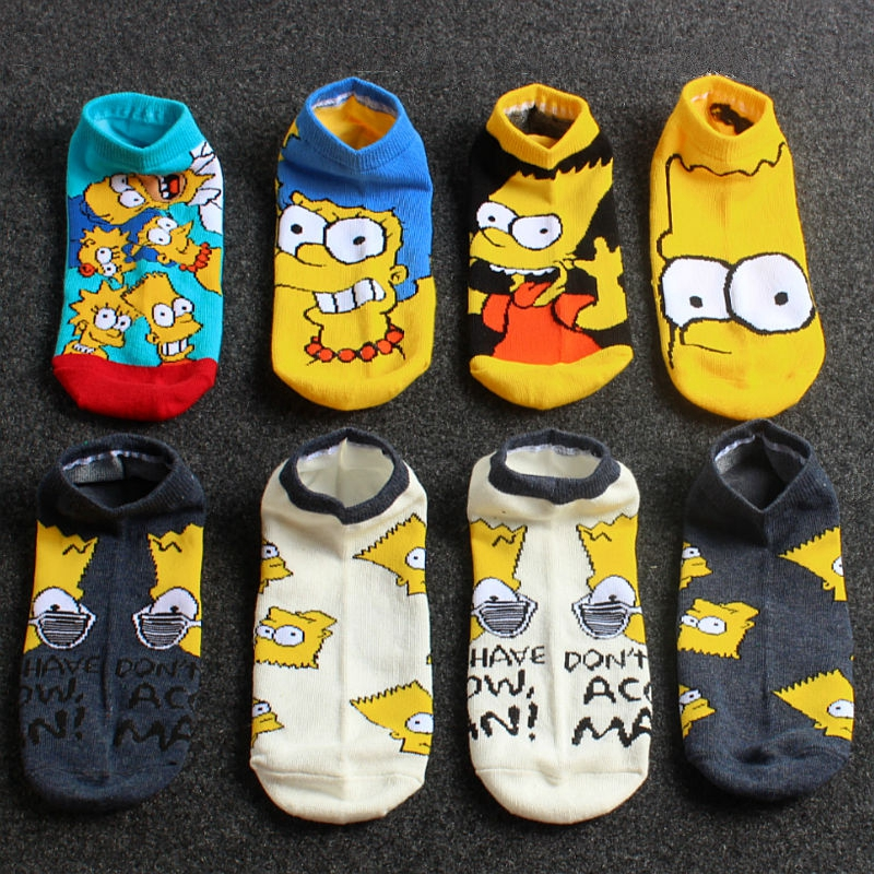 2020 Hot Cotton Deodorizing MEN'S Socks Simpson Cartoon Couples In Spring And Summer New Style Funny Happy Socks  Gifts For Men