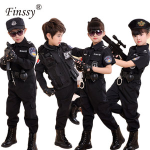 Image 1 - Boys Policemen Costumes Children Cosplay for Kids Army Police Uniform Clothing Set Long Sleeve Fighting Performance Uniforms