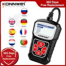 KONNWEI KW310 OBD2 Scanner per Auto OBD 2 Scanner per Auto strumento diagnostico Scanner automobilistico strumenti per Auto lingua russa PK Elm327
