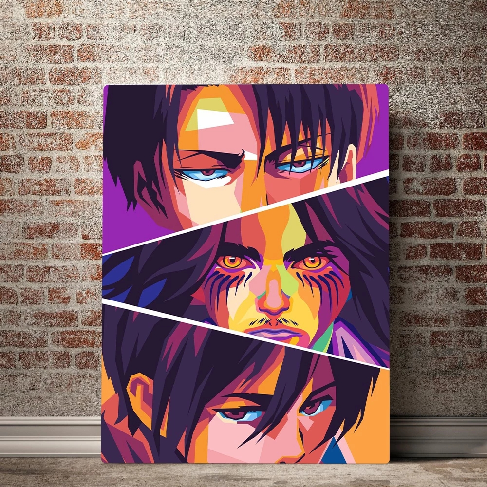 Wall Art для косплея по аниме «атака на Титанов» (холст картины HD печатные Японские Аниме картинки украшения дома постер для Гостиная модульная...