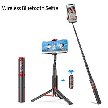 Przenośny Bluetooth Selfie Stick Live Vlog statyw składany wysuwany Monopod dla iPhone 11 X Xiaomi Huawei Samsung telefon tanie i dobre opinie ulanzi Aluminum Smartphones SK-10