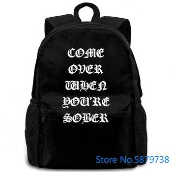 ¡Raro! Lil Peep venir cuando estás sobrio Tour EE. UU. Puro mujeres hombres mochila de viaje portátil la escuela para adultos