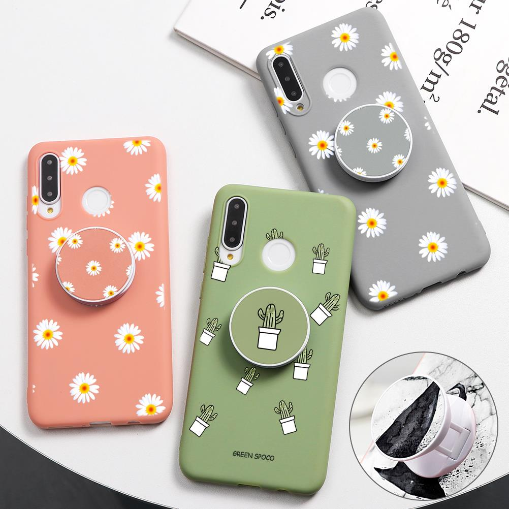Marble Stand Holder Case For Huawei P30 P20 Lite P Smart 2019 Funda For Huawei Mate 30 20 10 P10 P9 P8 Lite Pro Back Cover Bags