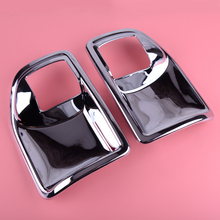 DWCX Car Interior Door Handle Bowl Cover Trim Chrome ABS Fit for Jeep Wrangler JK 2011 2012 2013 2014 2015 2016 2017 стоимость
