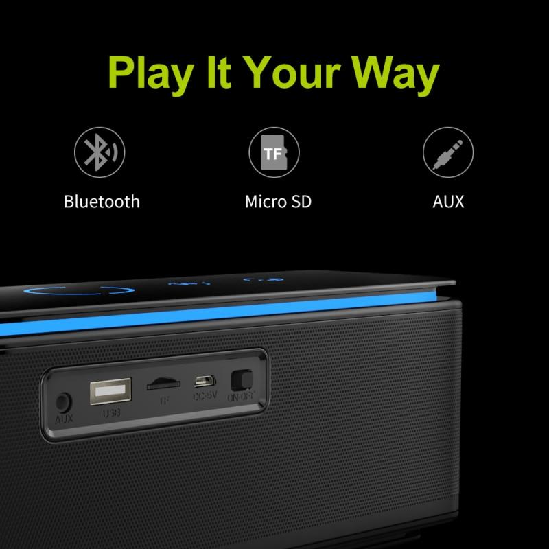 ZEALOT S7 Leistungsstarke Tragbare Bluetooth Lautsprecher Subwoofer Hifi Heimkino Sound Audio System Drahtlose Lautsprecher Unterstützung TF Karte