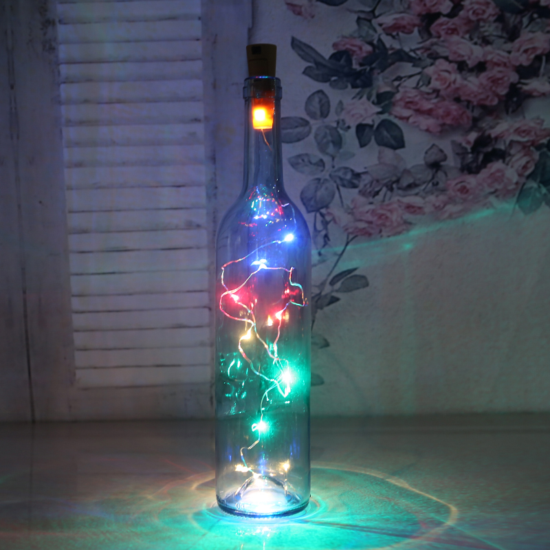 Z90 2M 20LED Lamp Cork Shaped Bottle Stopper Light Glass Wine LED String Lights For Bar Xmas Wedding Home Decoration 5 Colors