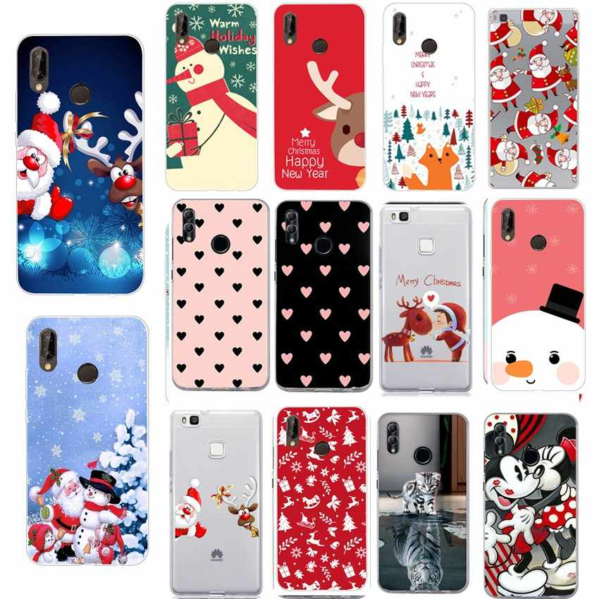 Christmas For Huawei Honor 10 Lite Case Phone Accesories Coque For Huawei P30 P20 Pro P Smart 2019 Y5 Y6 2018 P20 Lite Case
