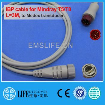 Mindray BeneView iPM iMECIBP cable for Medex disposable pressure transducer image