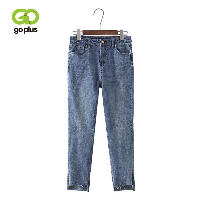 GOPLUS Boyfriends Women Jeans With High Waist Ankle-Length Pencil Pants Plus Size Skinny Jeans Femme Woman Vaqueros Mujer C9564
