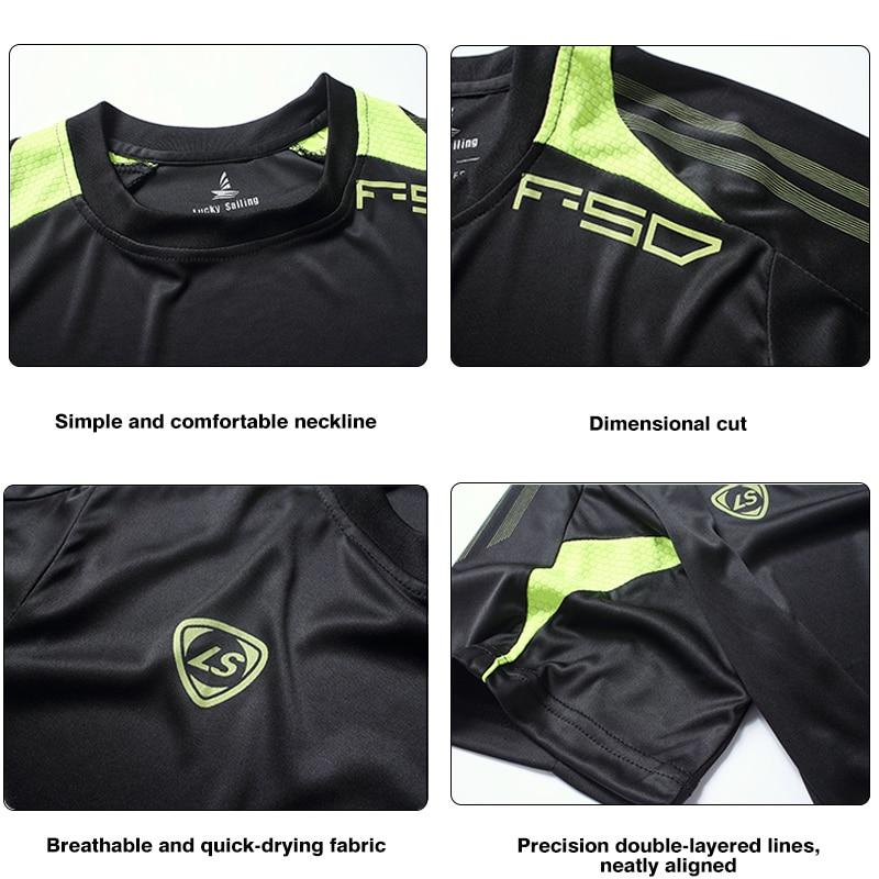 FANNAI Men Gym Shirt Running Shirts Quick Dry Fitness T-shirt Men's Tops Tees Clothing Short sleeve Jerseys Gym Sportswear 3
