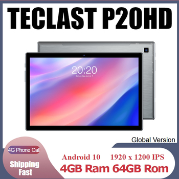 Teclast P20HD 4G Phone Call Tablets Octa Core 10.1 inch IPS 1920×1200 4GB RAM 64GB ROM SC9863A GPS Android 10 6000mAh tablet Pc
