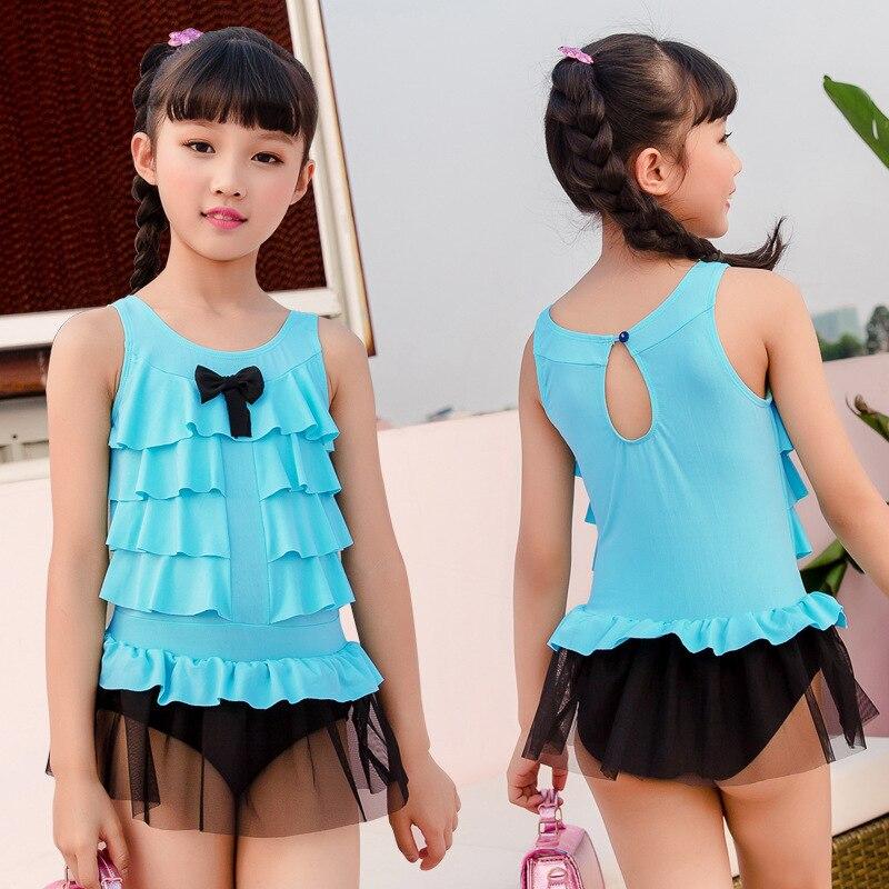 One-piece Swimsuit For Children Girls Princess Dress Comfortable Briefs Big Boy Sweet Skirt Swimming Suit Nt571092
