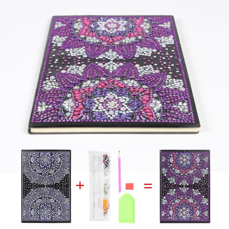 DIY Special Shaped Diamond Painting 50 Pages A5 Sketchbook Notebook No Lines Painting Painting Sketch Book Ornament For Gifts