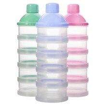 Taşınabilir süt tozu formülü dağıtıcı gıda konteyner depolama besleme kutuları için bebek çocuk yürümeye başlayan 4/5 ızgara bebek maması saklama kutusu
