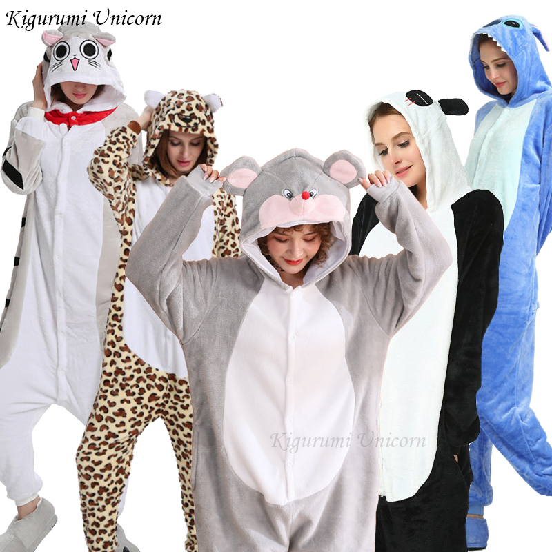 Kigurumi Unicorn Woman Pajamas Adults Men Animal Onesies Pyjama Unicorn Stitch Pajamas Kits Cartoon Cosplay Costume Sleepwear