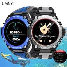 Umnyi relógio inteligente masculino smartwatch pulseira de fitness mergulho 30m ip68 waterpoof bússola barômetro jogar música 2021