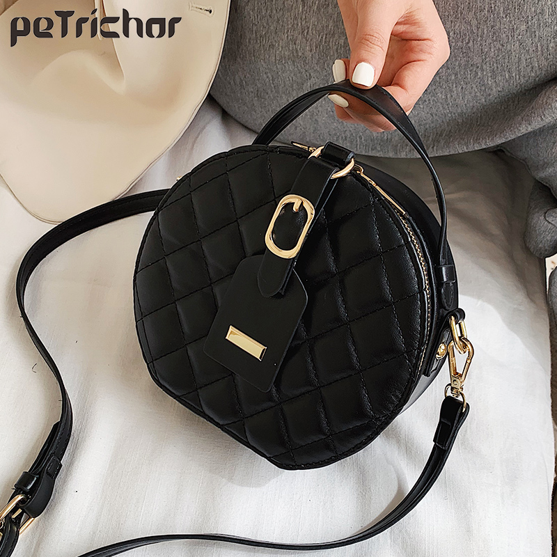 NEW Circular Design Fashion Women Shoulder Bag Leather Women's Crossbody Messenger Bags Ladies Purse Female Round Bolsa Handbag