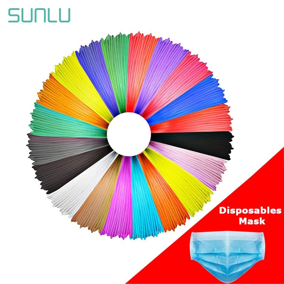 SUNLU 1,75 MM PLA 3D filamento de impresora 5m 3D pluma de impresión ABS PLA PCL filamento recargas 3d materiales de impresión