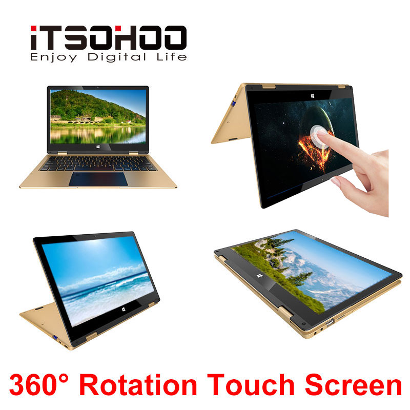11.6 inch <font><b>touchscreen</b></font> convertible tablet laptop iTSOHOO 360 degree rotating laptops intel <font><b>Notebook</b></font> computer image