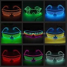 Festival do carnaval brilhante obturador óculos de sol led dança dj el sol glassess neon eyewear para a festa de incandescência decoração natal