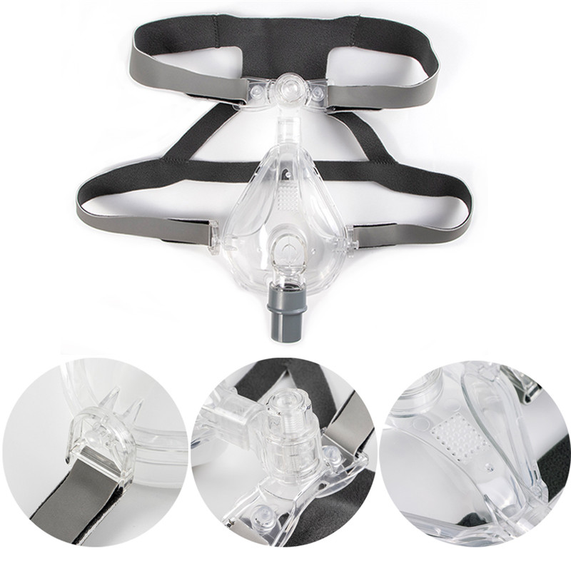 Full Face CPAP Mask Auto with Adjustable Headgear Strap Clip for Sleep Apnea Patient 47