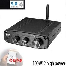 KYYSLB DC12 25V 100 ワット * 2 発熱 TPA3116 5.0 QCC3003 Bluetooth アンプ高忠実度 ES9018 デコードデジタルパワーアンプ