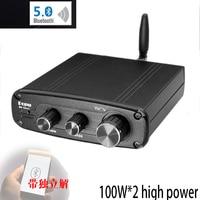 KYYSLB DC12 25V 100W * 2 TPA3116 5.0 QCC3003 Febre Amplificador De Alta Fidelidade Do Bluetooth com ES9018 Decodificação Amplificador de Potência Digital Amplificador     -