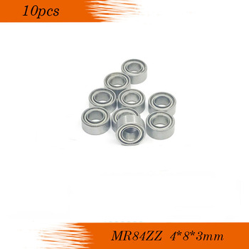 Free shipping 10pcs MR84ZZ L-840ZZ  deep groove ball bearing 4x8x3 mm miniature MR84 ZZ - discount item  13% OFF Hardware