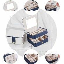 Two Layer Portable Storage Organizer Jewelry Box