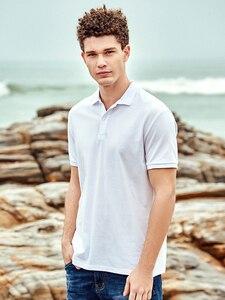 Image 4 - Пионерский лагерь, брендовая одежда, мужская рубашка поло, мужская деловая Повседневная однотонная мужская рубашка поло с коротким рукавом, высокое качество, чистый хлопок