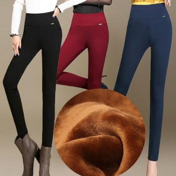 Ciepłe spodnie damskie grube spodnie zimowe damskie Plus Size ciepłe polarowe zimowe damskie spodnie damskie aksamitne damskie spodnie biurowe jesień tanie i dobre opinie YUKIESUE COTTON Octan Pełnej długości CN (pochodzenie) Zima qiantiepian Stałe Na co dzień Ołówek spodnie Mieszkanie