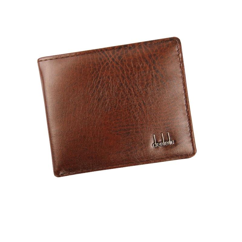 Wallet  Men Bifold Business Coin Purse Leather ID Credit Card Holder Purse Pockets BK Purse Wallet Bag Leather Men Card Package#