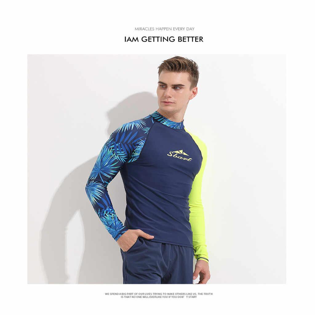 Protectores de sarpullido de manga larga para hombres trajes de cuerpo snorkel chaqueta de buceo piel Anti-UV ropa de surf ropa deportiva traje de neopreno protección solar