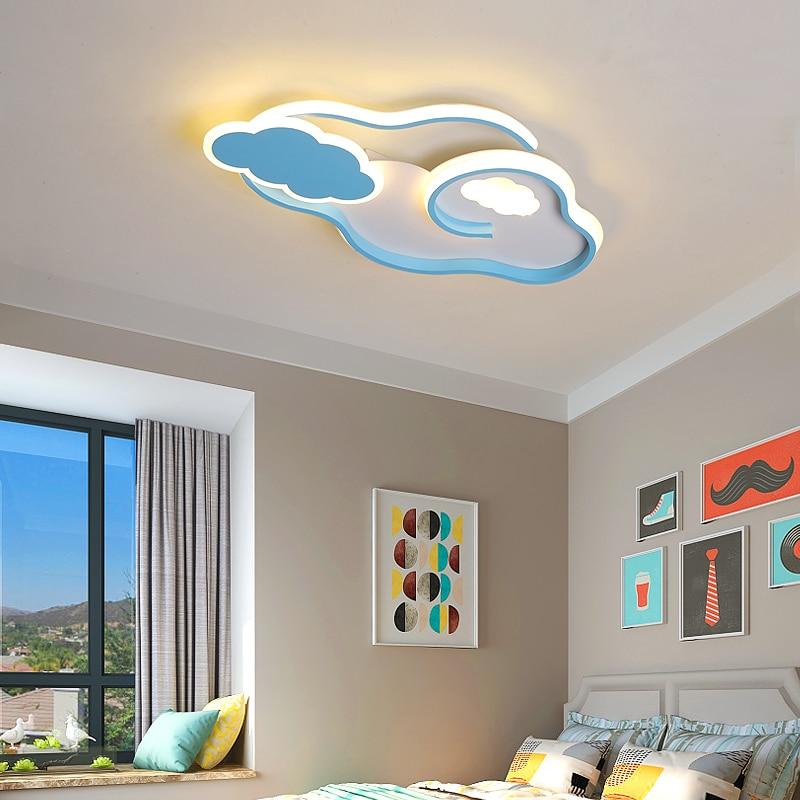 Clouds Modern Led Ceiling Lights Lustre Led Children Room Kids Bedroom Pink/Blue Color Minimalism Led Ceiling Lamp Home Lighting