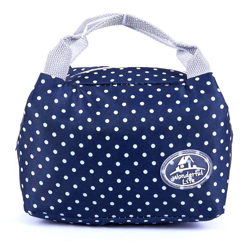 Dot Portable Lunch Bag Thermal Insulated Cold Keep Food Safe Warm Lunch Bags For Girls Women