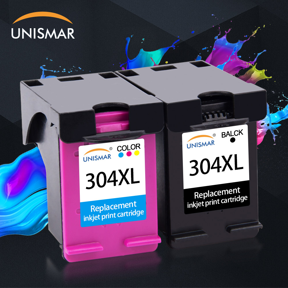 Unismar 18ml 304XL New Version Ink Cartridge for HP304 <font><b>HP</b></font> <font><b>304</b></font> <font><b>XL</b></font> Deskjet Envy 2620 2630 2632 5030 3720 3730 5020 5032 5034 5030 image