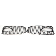 Left + Right Car Front Bumper Mesh Grille Grill Fog Lamp Cover Trim Only For Audi A4 B8.5 S-line S4 RX4 2013 2014 2015