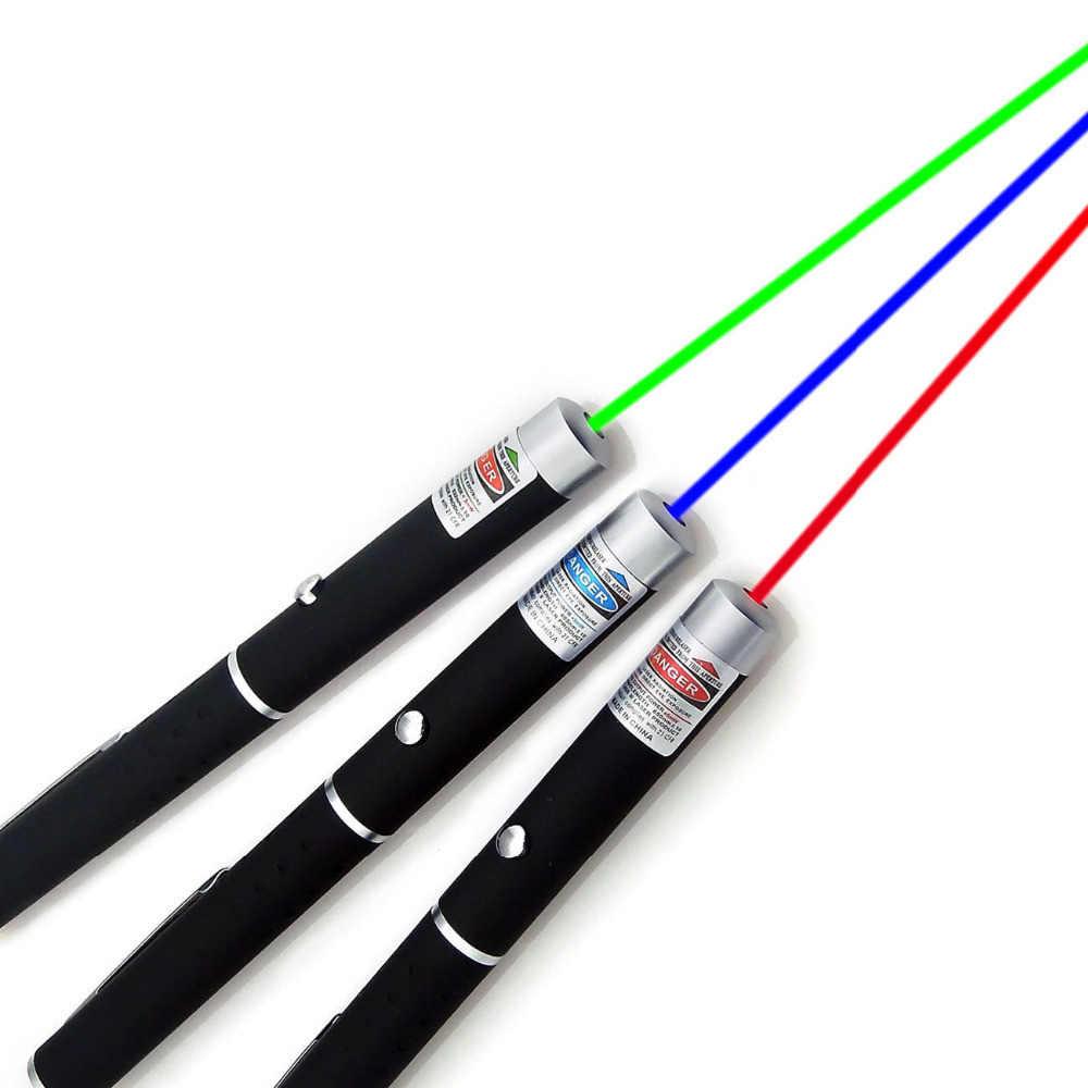 לייזר Sight מצביע 5MW גבוהה כוח ירוק כחול אדום דוט לייזר אור עט עוצמה לייזר מטר 530 ננומטר 405 ננומטר 650 ננומטר לייזר עט