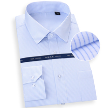 Pure Cotton Oversized Shirt for men Long Sleeve striped solid formal Mans shirts 8Xl White Square collar comfortable clothing