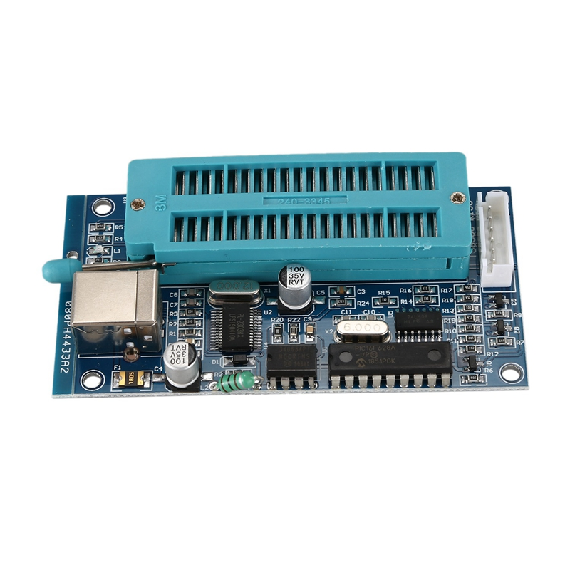 AAAE Top 1SET PIC Microcontroller USB Automatic Programming Programmer K150 + ICSP Cable|Digital-to-Analog Converter| |  - title=