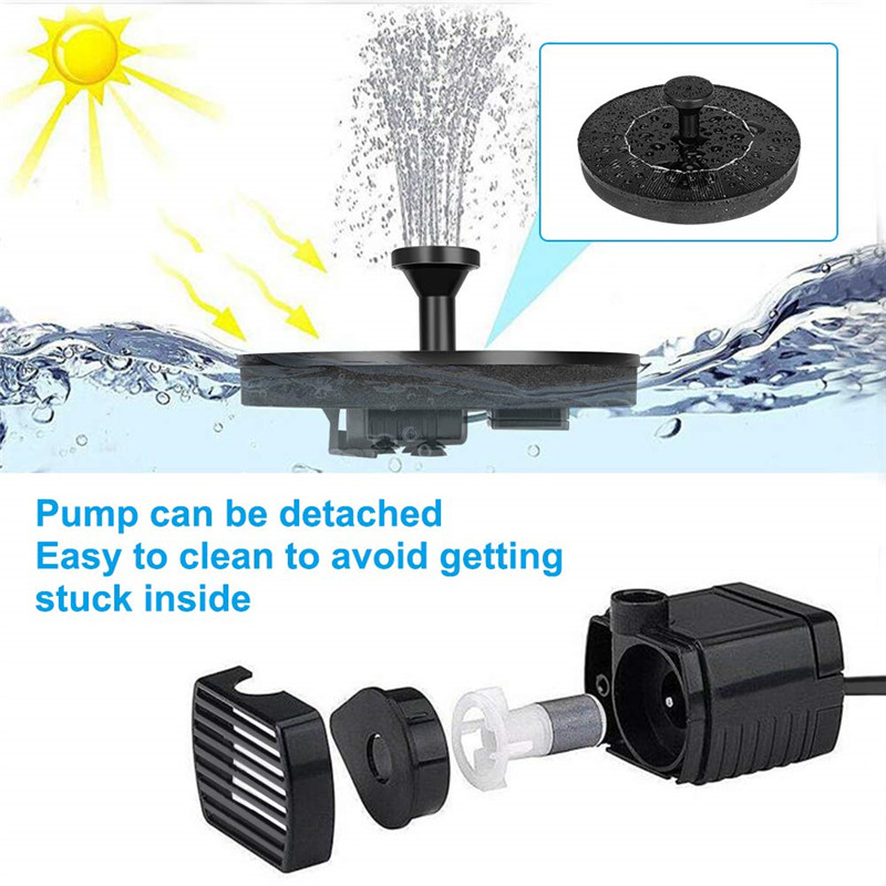 Solar Powered Water Fountain Pump can be Cleaned Easily