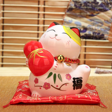 Lucky Cat Decoration Creative Home Living Room Office Desk Decoration Mini Piggy Bank Feng Shui Home Decoration Business Gift
