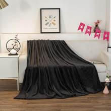 Cobertor do sofá na cama preto cor flanela macio thow cobertores único/rainha/rei tamanho xadrez para camas velo cobertor para casa