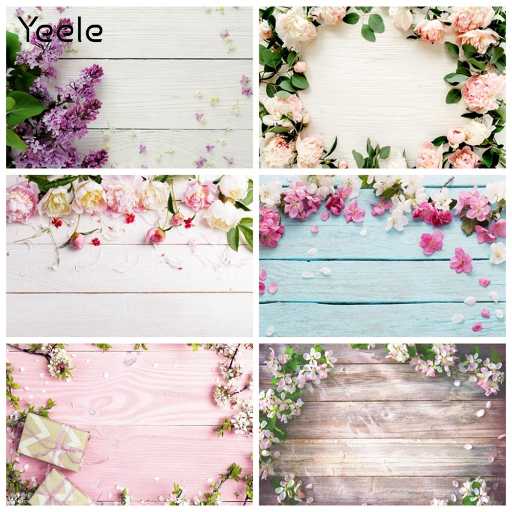 Yeele Vinyl Wood Background for Photography Board Spring Flower Pet Food Photocall Portrait Photographic Backdrops Photo Studio