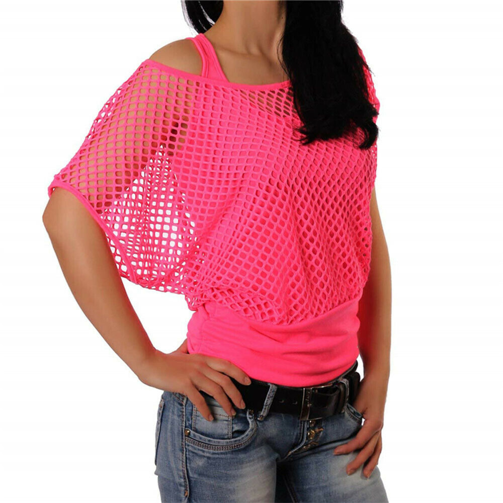 <font><b>Sexy</b></font> Women's Fishnet Top Ladies Summer Party Casual Blouse Casual oose Shirt <font><b>Blusa</b></font> Size S-<font><b>XXL</b></font> Top <font><b>Mujer</b></font> de Moda 2019 810 image